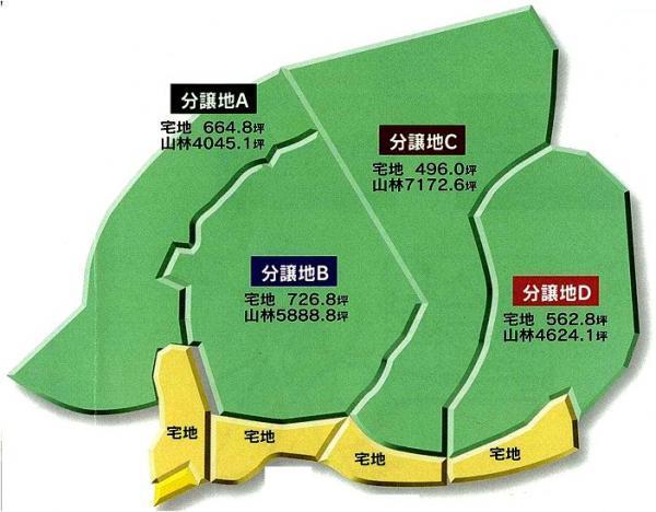 横手市 分譲地4区画